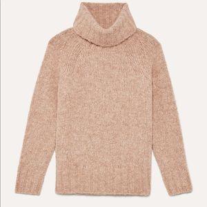 Camel turtleneck sweater in alpaca blend